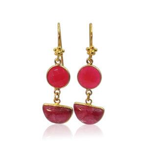 Callysta's Findings - Earrings Double Ruby Quartz