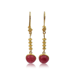 Callysta's Findings - Earrings Fuchsia Stairs