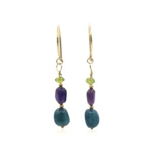 Callysta's Findings - Earrings GF Tourmaline Amethist Apatite