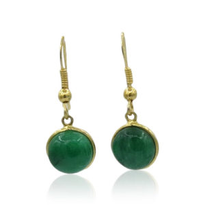 Callysta's Findings - Earrings Green Onyx