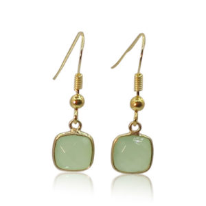 Callysta's Findings - Earrings Green Quartz