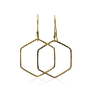 Callysta's Findings - Earrings Hexagon Gold
