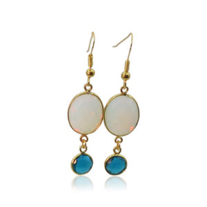 Callysta's Findings - Earrings Opalite Topaz