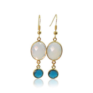 Callysta's Findings - Earrings Opalite Topaz B