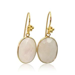 Callysta's Findings - Earrings Oval Moonstone