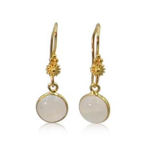 Callysta's Findings - Earrings Round Moonstone