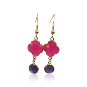 Callysta's Findings - Earrings Ruby Quartz Amethist