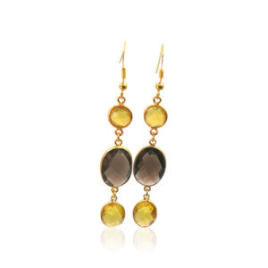 Callysta's Findings - Earrings Tripple Citrine Smoked Topaz