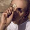 Motyle - Cosmic Love Sun Necklace model