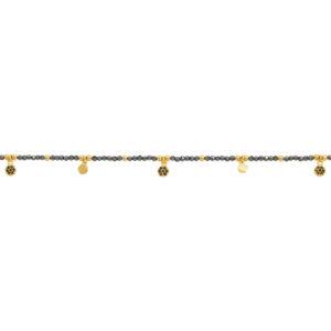 Une a Une - Bracelet Jaipur Fleur Pyrite