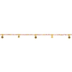 Une a Une - Bracelet Jaipur Fleur Rhodonite