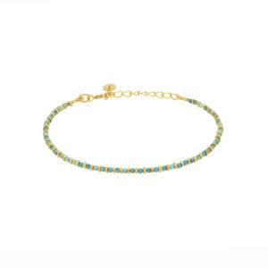 Une a Une - Bracelet Pierres Jaipur Turquoise