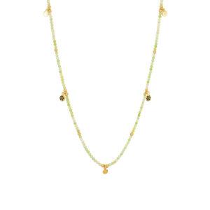 Une a Une - Collier Jaipur Fleur Green Opal