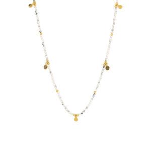 Une a Une - Collier Jaipur Fleur Howlite