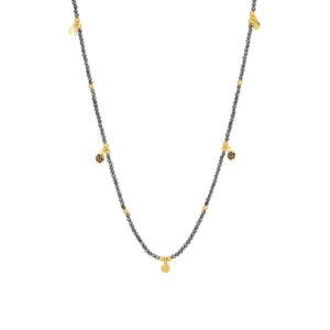 Une a Une - Collier Jaipur Fleur Pyrite