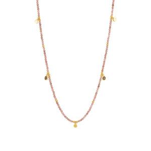 Une a Une - Collier Jaipur Fleur Rhodonite