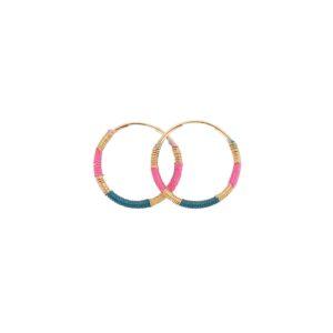 Une a Une - Earrings Blue Topaz Fuchsia