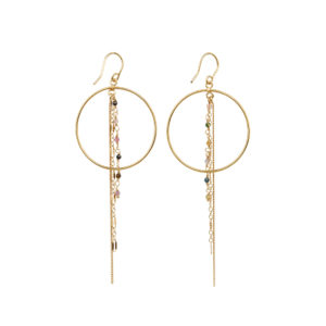 Une a Une - Earrings Inde Chains Tourmalines