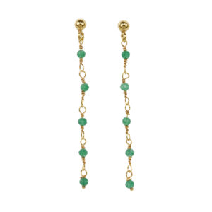Une a Une - Earrings Inde Emerald