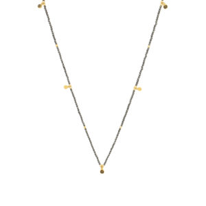 Une a Une - Long Necklace Pyrite