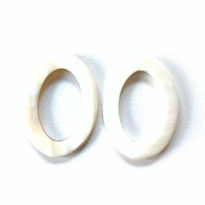 Bauer Basics - Buffalo Horn White Oval Medium