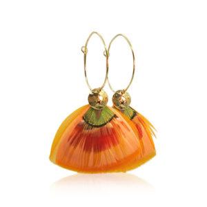 Gas Bijoux - Bermudes Hoop Earrings Orange