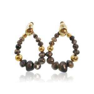 Gas Bijoux - Biba Earrings Dark Grey