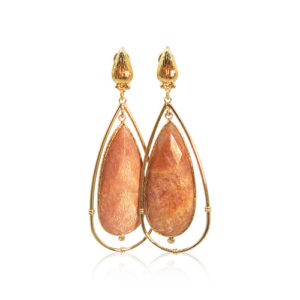 Gas Bijoux - Cage Salmon Earrings