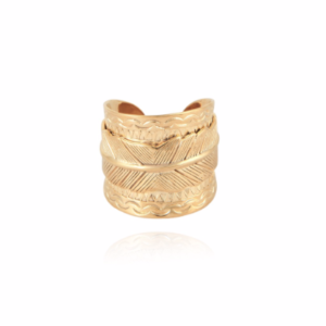 Gas Bijoux - Cancun Feather Ring Gold