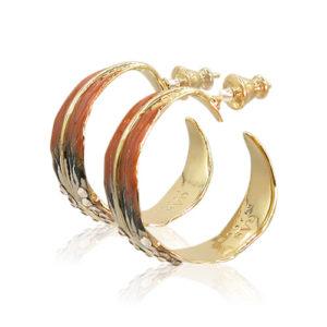 Gas Bijoux - Penna Orange Earrings