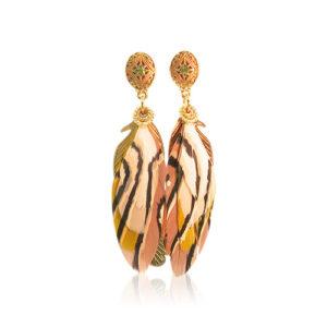 Gas Bijoux - Sao Feather Earrings Nude