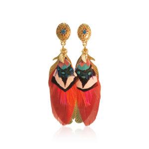 Gas Bijoux - Sao Feather Earrings Orange