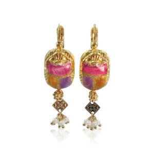 Gas Bijoux - Scaramouche Earrings Fuchsia