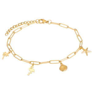 Ixxxi - Anklet Charms Gold