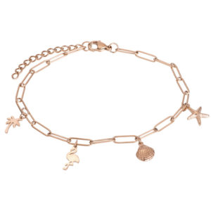 Ixxxi - Anklet Charms Rosegold
