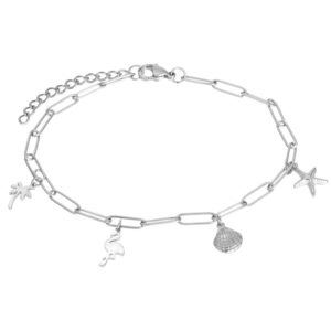 Ixxxi - Anklet Charms Silver