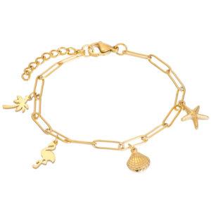 Ixxxi - Bracelet Charms Gold