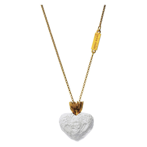 Motyle - Marble Clouds Necklace Gold MCG2003