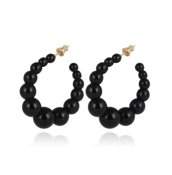 Gas Bijoux - Andy Hoop Earrings Black