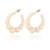 Gas Bijoux - Andy Hoop Earrings White