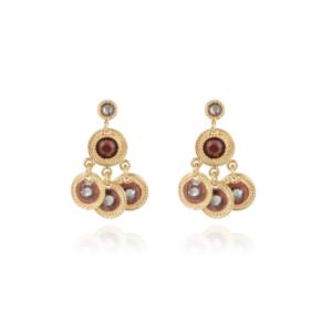 Gas Bijoux - Arlequin Earrings Brown