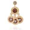 Gas Bijoux - Arlequin Earrings Brown Single