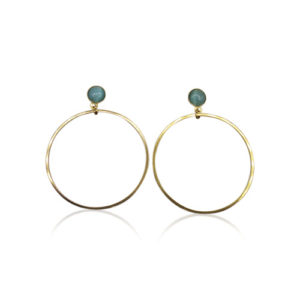 Callysta's Findings - Cateye Earrings Medium Single Aqua