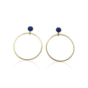 Callysta's Findings - Cateye Earrings Medium Single Blue