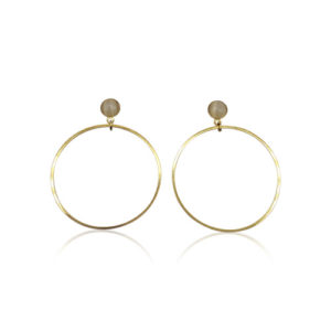 Callysta's Findings - Cateye Earrings Medium Single Cream