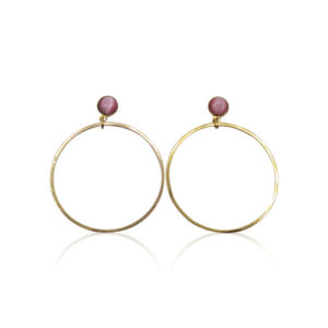Callysta's Findings - Cateye Earrings Medium Single Pink