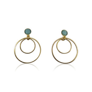 Callysta's Findings - Cateye Earrings Small Aqua
