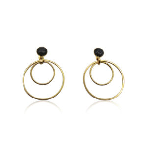 Callysta's Findings - Cateye Earrings Small Black