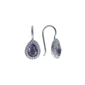 Coby van den Bor - Earrings Silver Amethist 930