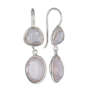 Coby van den Bor - Earrings Silver Rosequartz 813